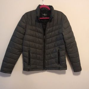 London fog sz small packable puffer jacket in grey